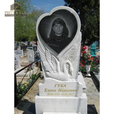 Памятник из белого мрамора №11 — ritualum.ru